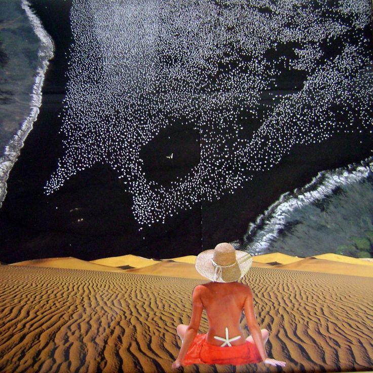 Pláž koláž 50 x 50 cm by Jana Černochová