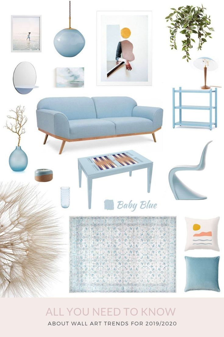 Wall Art Trends For 2019 2020 All You Need To Know About Pastel Home Decor Colorful Interiors Blue Living Room Decor