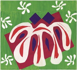 """The 1947 cutout """"Two Masks (The Tomato),"""" by Henri Matisse, at MOMA."""