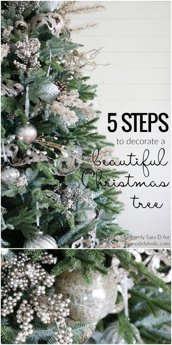 How to Decorate a Christmas Tree, in Just FIVE Steps! A beautiful