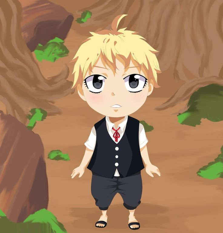 Fairy Tail - August as child