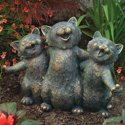 Cat Serenade StatueGardens Ideas, Cat Gardens, Gardens Decor, Cat Serenade, Serenade Statues, Christmas Gift, Cat Lovers, Cat Statues, Gardens Statues
