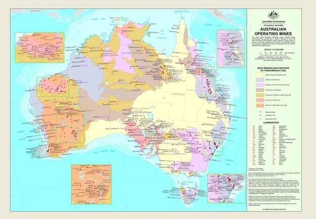 Operational mines: no prizes for guessing Australia's biggest industry.