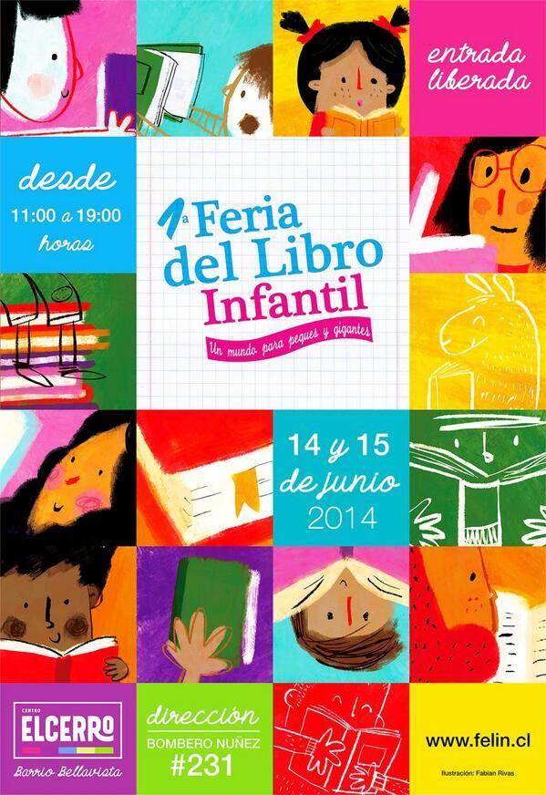 Feria del Libro infantil 14-15 junio feriadellibroinfantil.cl