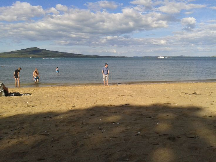 Cheltenham Beach - Because everything is better in NZ - Cheltenham in the UK has a high street, a much loved racecourse and Montpellier Gardens - Cheltenham NZ a beach looking out on a dormant volcano, no competition!