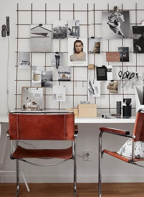 Click for 6 ways to optimize the wall space above your desk to create an inspiring and organized workspace that'll motivate you to get down to business!
