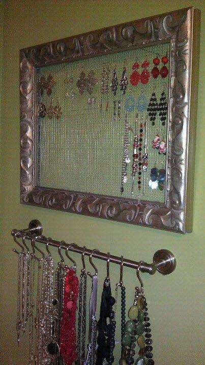 25 best ideas about necklace storage on pinterest diy - Fabriquer un porte bijoux mural ...