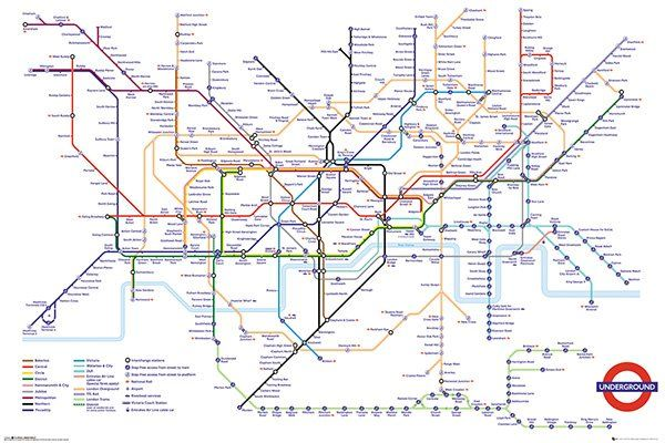 This Transport For London Underground Map Framed Memorabilia Is