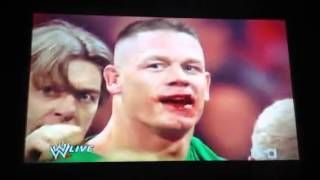 They need all these people to hold back John Cena & Brock Leasner, and they still cant hold them from getting to each other  http://www.youtube.com/watch?v=jmGWaDeQtM8