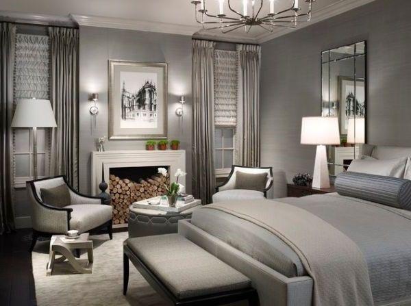 luxurise schlafzimmer in schnen grau - Schne Schlafzimmer