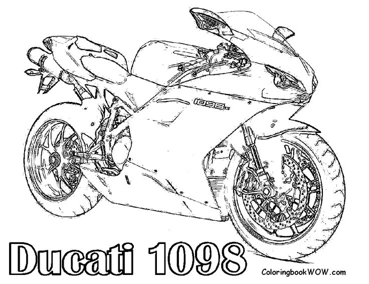 Free Motorcycle Coloring Page