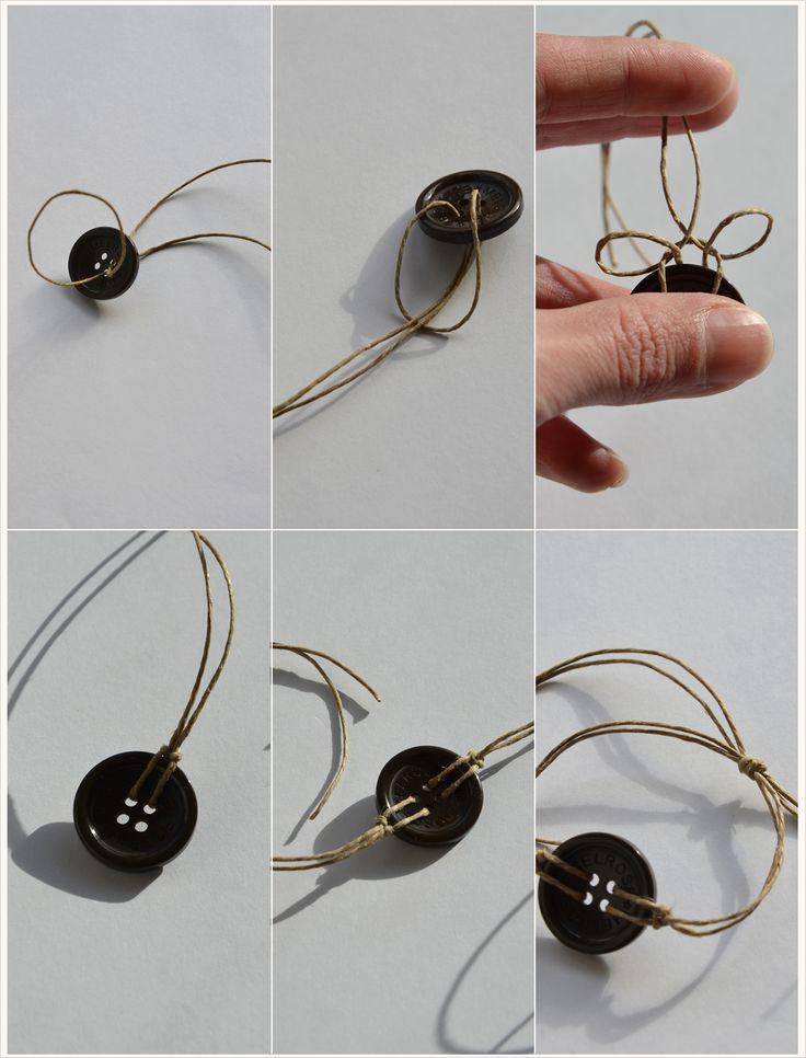 DIY: Knopf-Armbänder mit verstellbarer Schnur …