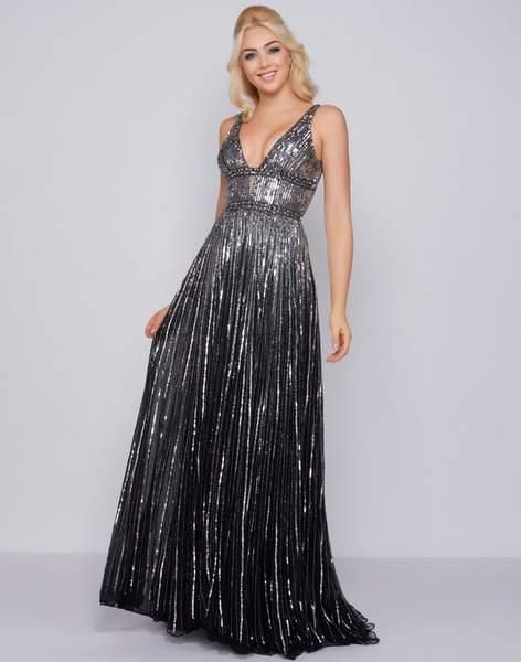 914a2c070ff Mac Duggal 4906. An Allover sequin embellished fabric full-length dress