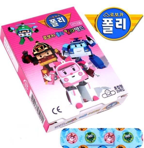 Robocar Poli - Band Aid MIX ( 1 Box , 20 Pads ) Korean Character Animation Kids #RobocarPoli #Mixed
