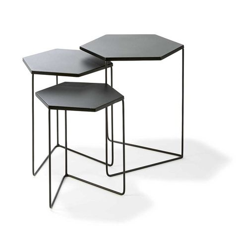 Nested Metal Geo Tables - Set of 3