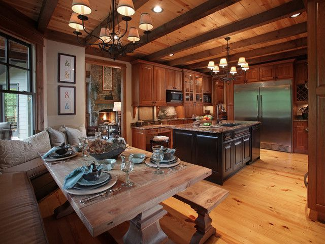 His Queen Royal Series 1 Craftsman Kitchen Kitchen Design Pictures Rustic Kitchen Craftsman kitchen in dining room