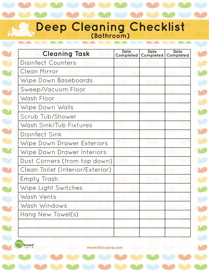 Best  Deep Cleaning Checklist Ideas On   Deep