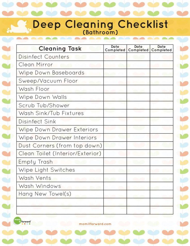 The 25 Best Deep Cleaning Lists Ideas On Pinterest Deep