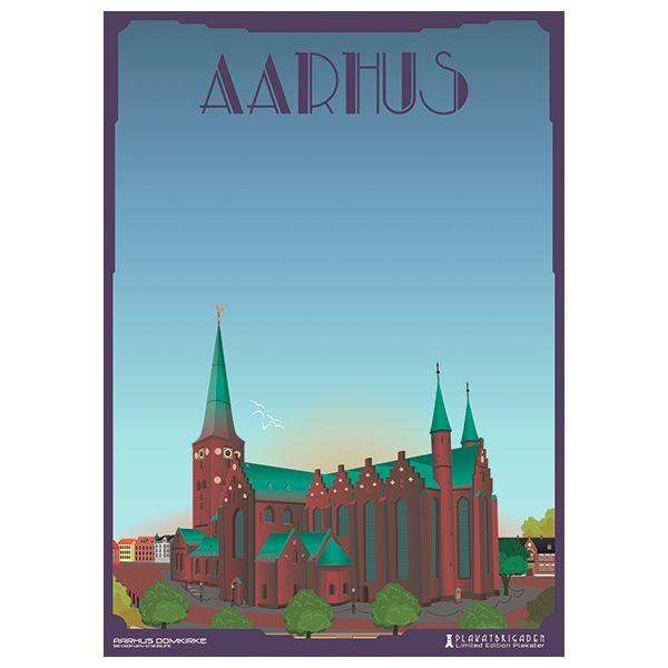 Limited edition plakat af Aarhus Domkirke
