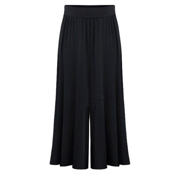 18.15$  Buy here - http://di2at.justgood.pw/go.php?t=178415306 - Casual Women's Elastic Waist Ruffled Solid Color Palazzo Pants