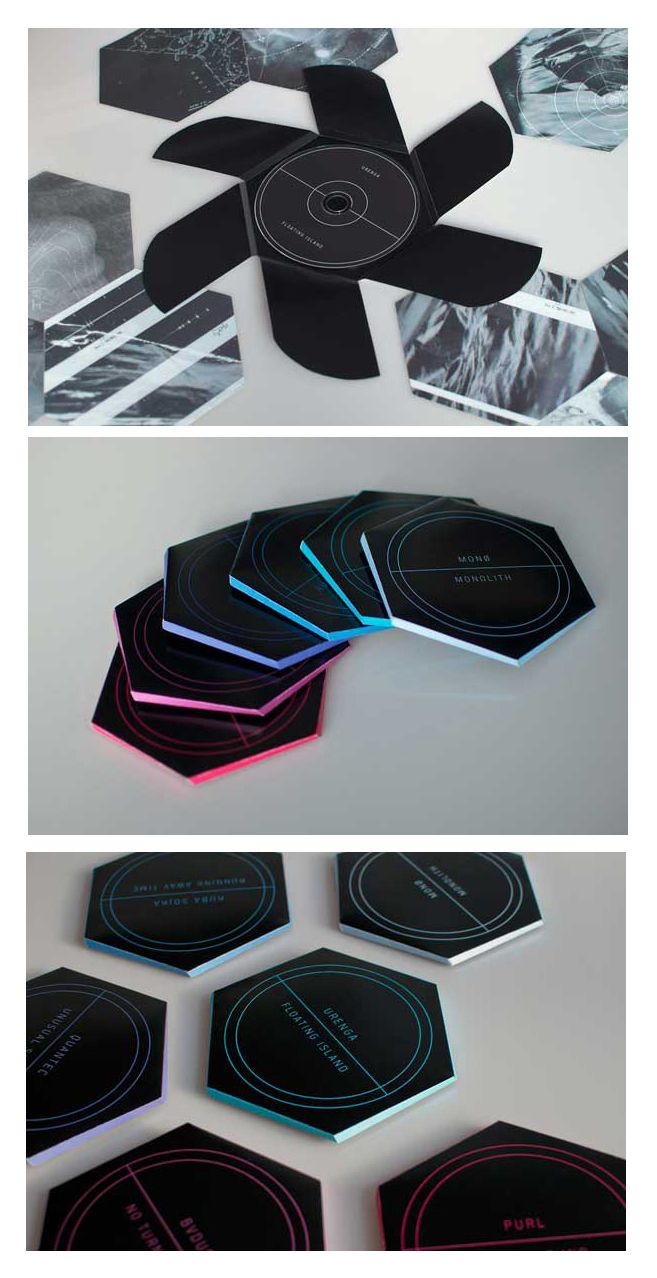This is such a great idea, looks like these could be fun to make.   This from:  Dub Techno Album Package