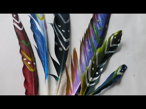 Diy Painted Pigeon Feathers, Learn Colors