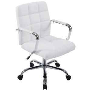 Modway Ripple Armless Mid Back Office Chair In White Eei 1532 Whi The Home Depot In 2020 Office Chair White Office Chair Modern Office Chair