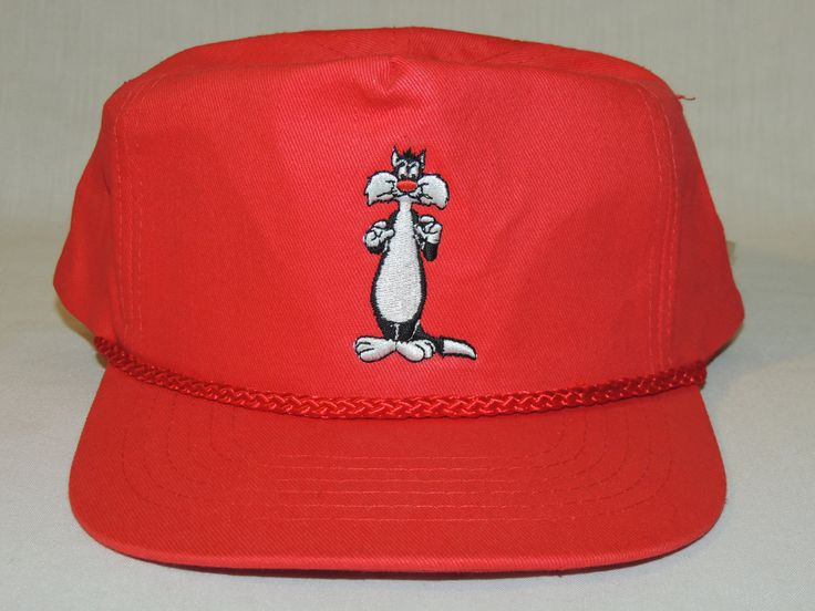 VTG NEW NWT Sylvester Looney Tunes Suncoast Video / Motion Picture Company Red Snapback Hat / Baseball Cap by ALadiesPerspective on Etsy