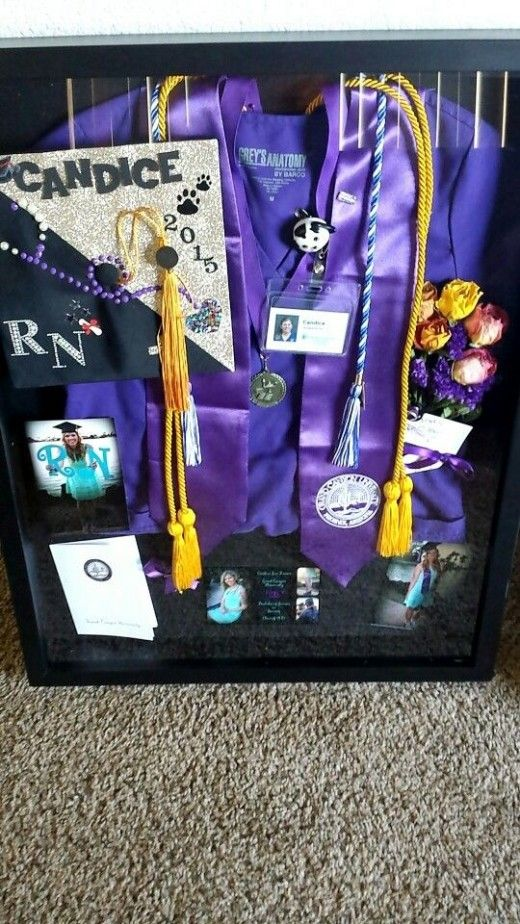 Nursing Shadow Box | DIY College Graduation Decoration Ideas