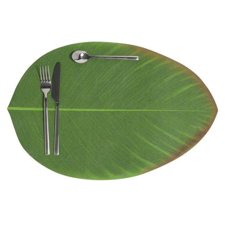 BANANIER green leaf place mat