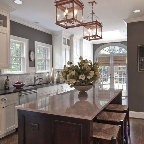 Kitchen Wall Colors With White Cabinets Design Ideas, Pictures, Remodel and Decor