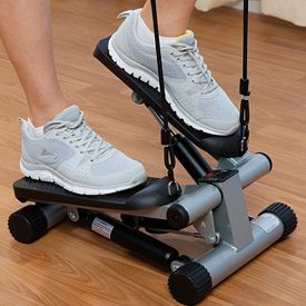 Sunny Health /& Fitness Mini Stepper with Resistance Bands for sale online