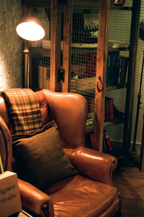 Looks cozy! I like the idea of chicken/hog wire for the back cabinet to keep an open feel to a small space.