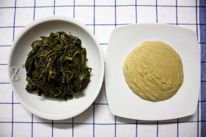 La ricetta del purè di fave con le cicorie di campagna | The Puglia