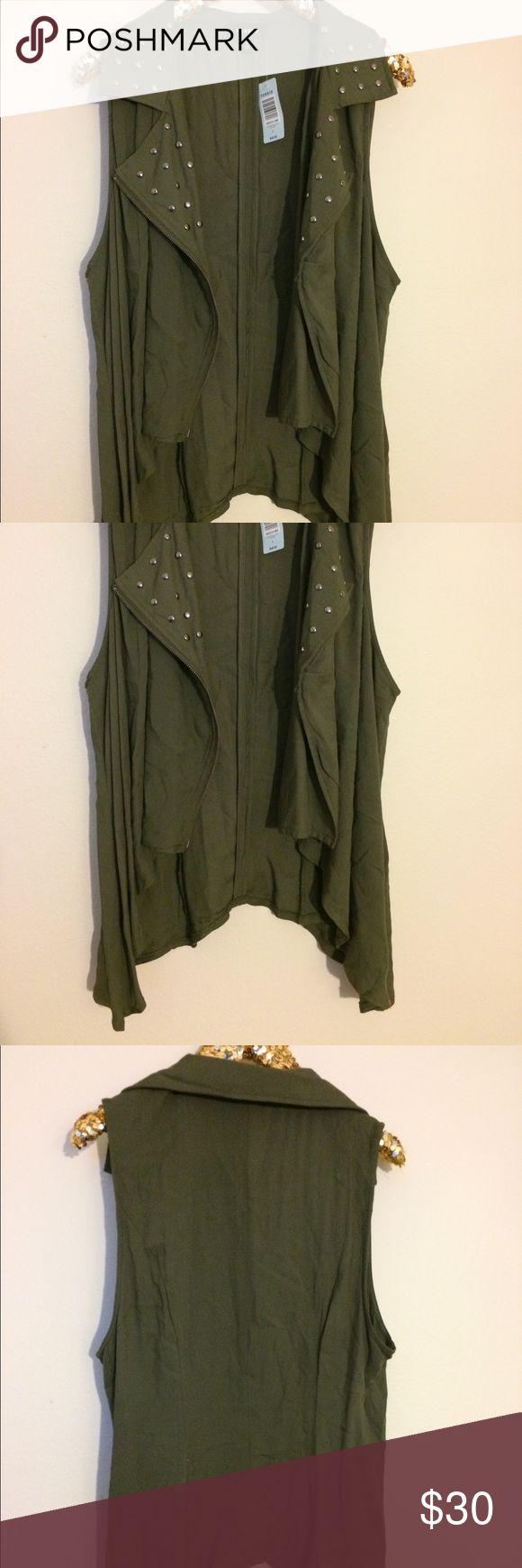 Torrid plus size cotton army green vest size 2 NWT Brand new. torrid Jackets & Coats Vests