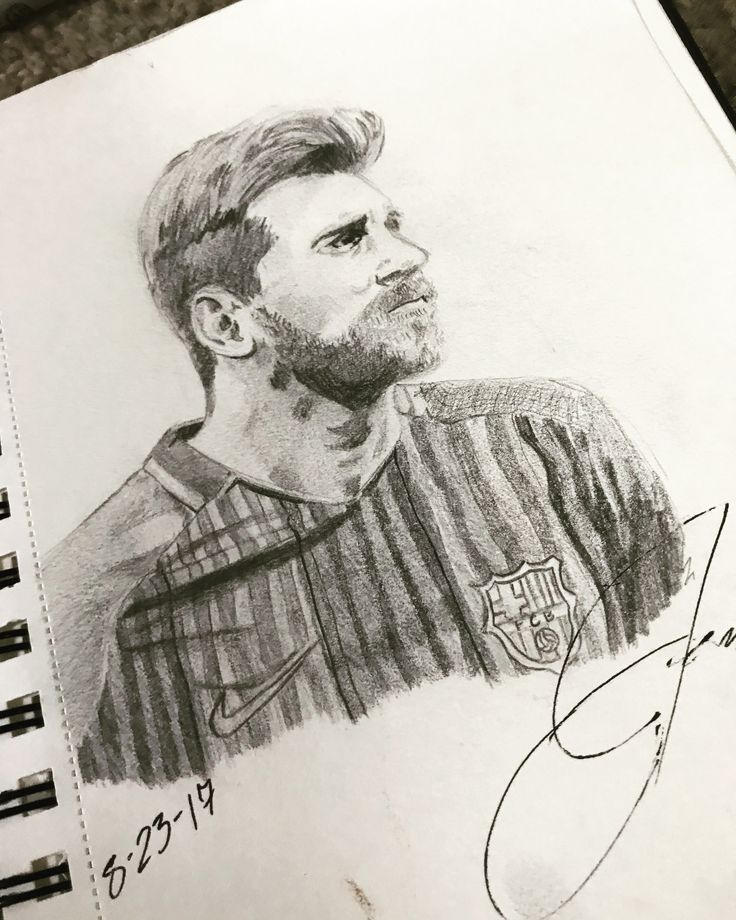 Lionel Messi drawing by @blasian_invasion02 on Instagram