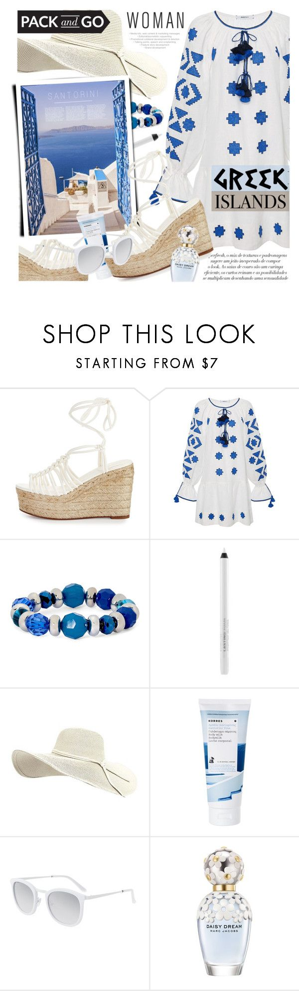 """""""Pack and Go: Greek Island"""" by noviii ❤ liked on Polyvore featuring Chloé, March11, Mixit, Korres, Smoke x Mirrors, Marc Jacobs, Packandgo and greekislands"""