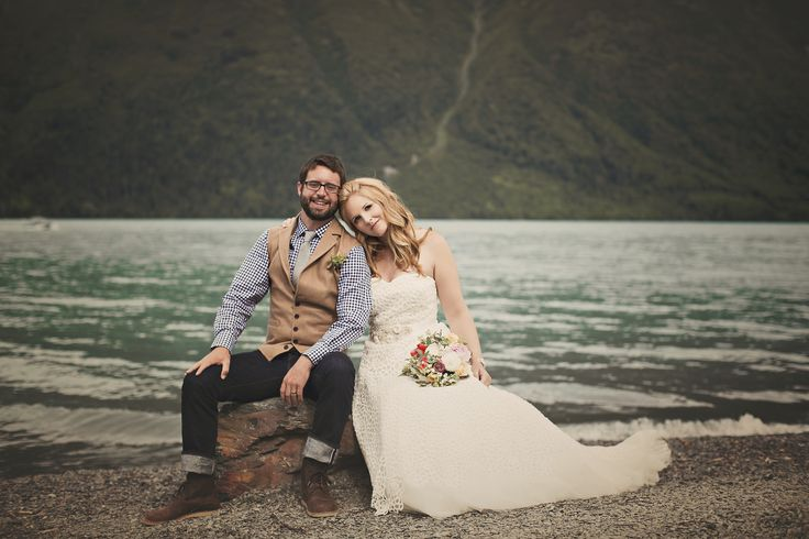 Alaskan Wedding in Cooper Landing on Kenai Lake.  Beautiful!  Alaska wedding planner - Blomma Designs  #alaskawedding  Photo @relicalaska