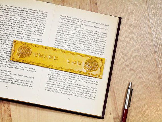 Handmade Bookmark, Leather Bookmark, Thank You Bookmark, Thank You Gift. Repin To Remember. #thankyou, #thankyoubookmark, #rosebookmark, #yellowroses, #leatherbookmark, #bookmark, #bookmarker, #handmadebookmark, #handmadebookmarker, #leatherbookmarker, #leather, #leatheraccessories, #etsy, #etsyshop, #etsyfinds, #etsygifts, #handmade, #handmadewithlove, #tinasleathercrafts.