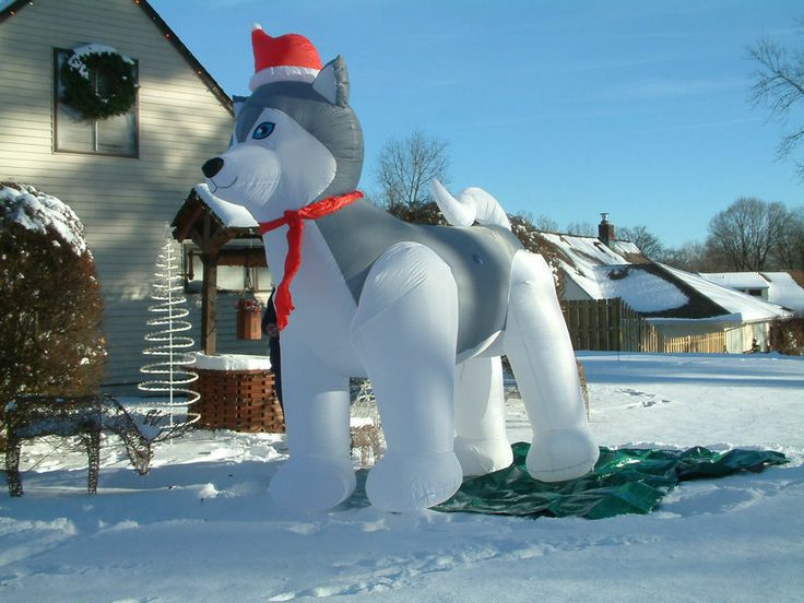 Brand new christmas ft airblown inflatable husky with