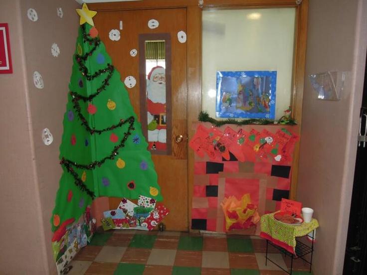 Classroom Door Tree Decoration : Christmas door decorations bulletin boards doors and