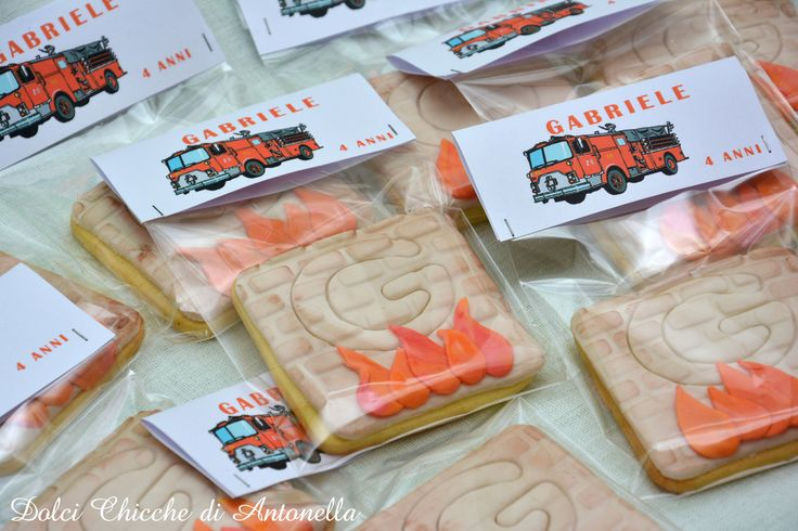 cookies firefighters biscotti pompieri