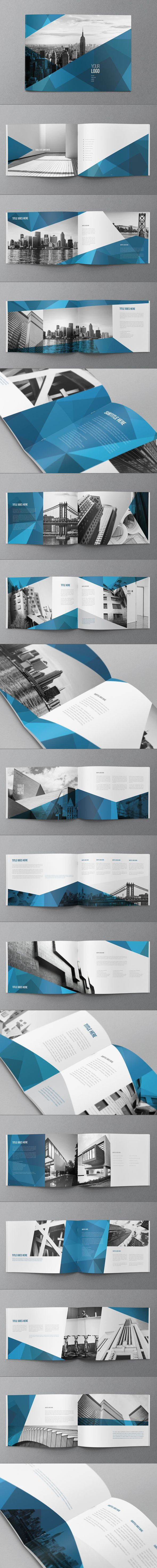 Abstract Architecture Brochure by Abra Design, via Behance _역풍 유니폼 레퍼런스