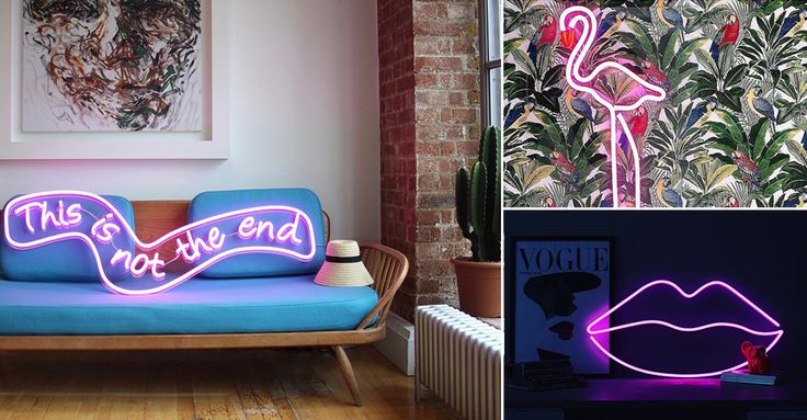 With a touch of '80s chic, whether it's hung on the wall or flashing above the bed, adding a neon lighting fixture to your home brings a cool element of fun to any interior scheme, be it industrial, traditional or contemporary chic. Taking inspiration from retro fonts and old-school illustrations – think oversized puckered pouts, kitsch love hearts and lightning bolts – neon lighting is an easy way to infuse a bit of humour and quirky panache to your stylish pad.
