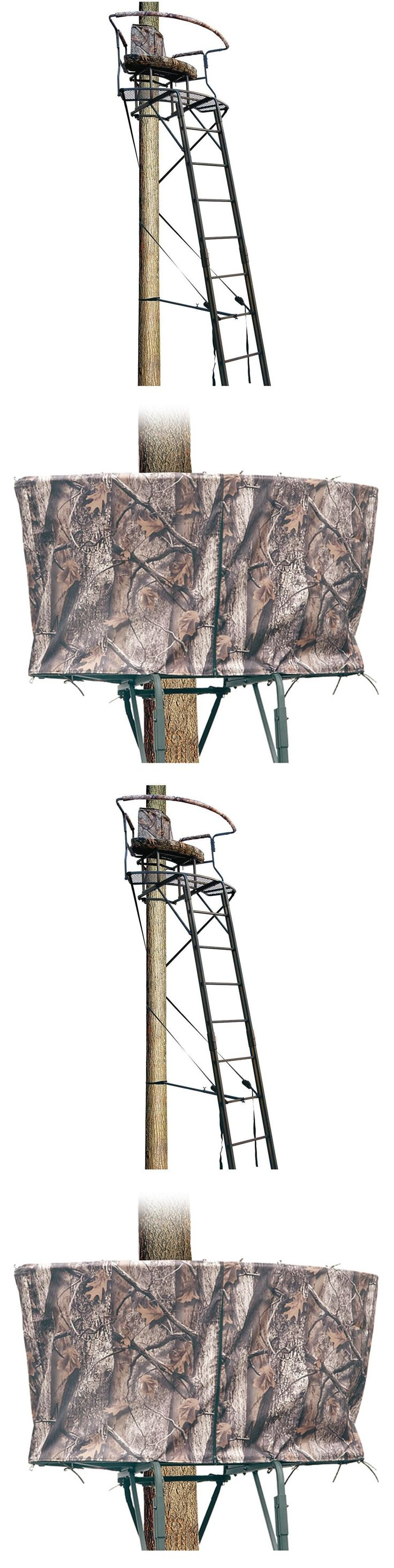 Tree Stands 52508: Tree Stand Ladder 2 Seat 17.5 Feet Hunting Shooting Deer Outdoor Steel Blind New BUY IT NOW ONLY: $260.19