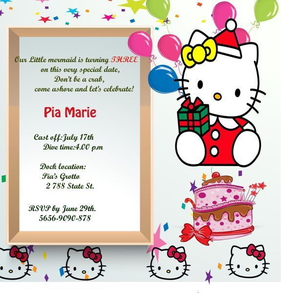 30 Best Hello Kitty Invitations Images On Pinterest