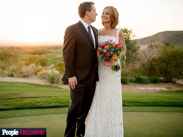 Savannah Guthrie's Colorful Wedding Bouquet enhanced her lovely ML gown