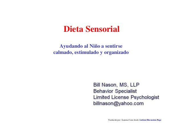 Dieta sensorial by Juanma Cano via slideshare