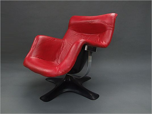 Rare 1960's example of the Karuselli armchair designed by Yrjo Kukkapuro for Haimi, Finland 1964