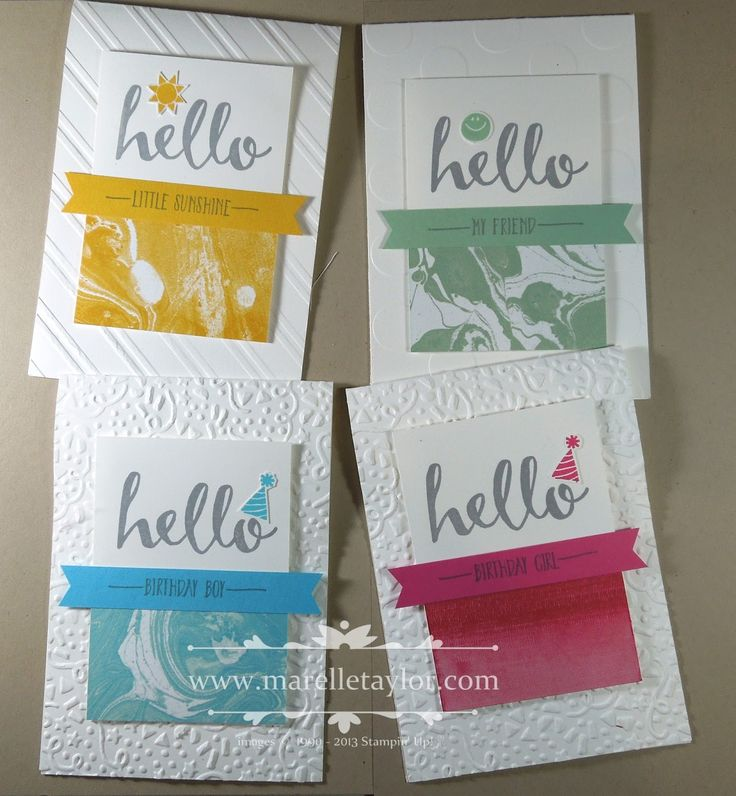 Marelle Taylor Stampin' Up! Demonstrator Sydney Australia: Perfectly Artistic Hello Stamp-a-Stack, Sale-a-Bration 2016, simple birthday cards, occasions catalogue 2016, stamping, confetti,